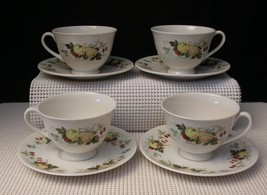 """MIRAMONT"" TC1022 Royal Doulton Set of 4 FOOTED CUPS & SAUCERS Bone Chin... - $20.60"
