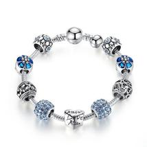 Hot Sale Silver Love Forever Amor Amour Charm Bracelet 3 8RA - $11.44