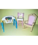 Dollhouse Fisher Price Loving Family Highchair Rocker Baby Room 1993 Fur... - $19.99