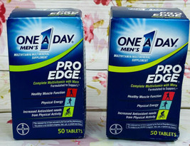 2 One A Day Men's Pro Edge Multivitamin 2 Pk 50 Tablets Each 100 Total, Exp 6/21 - $13.27