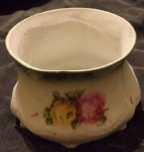 Antique Hand Painted Porcelain Waste Bowl - Made in Bavaria - Red Lion B... - $24.74