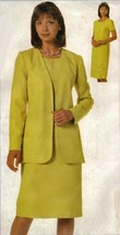 Misses Career Work Office Lined Jacket Straight Dress Suit Sew Pattern 2... - $12.99