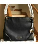 Michael Kors Nicole Medium Single Compartment Tote Black Pebbled Leather... - $147.51