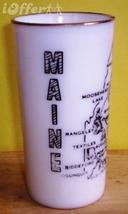 1960'S RETRO HAZEL ATLAS--FROSTED SOUVENIR GLASS (MAINE) - $8.95