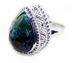 grand Turquoise 925 Sterling Silver Multi Ring genuine usual US - $59.39
