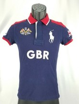 Kid's Skinny Polo Ralph Lauren Great Britain 5 Boys Blue Red Polo Size XS - $18.06