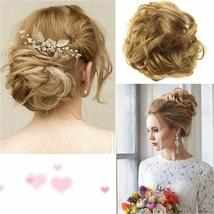 Natural Color Curly Messy Bun Hair Piece Scrunchie Hair Extension image 7