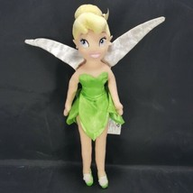 """Disney Store Tinkerbell Plush Doll Stuffed Toy Authentic 12""""  Fairy Tink Green - $14.84"""