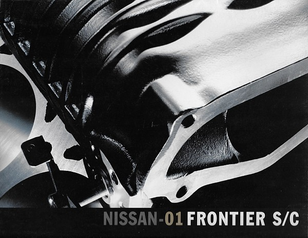 2001 Nissan FRONTIER S/C sales brochure catalog folder US 01 Supercharged