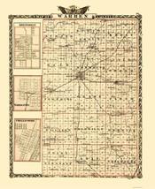 Warren Illinois Landowner - Warner 1870 - 23 x 28.18 - $36.95+
