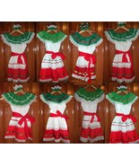Girls & Toddlers Tri-Color Dresses For Mexico's Folklorico 5 De Mayo Fie... - $24.15+