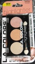 LA COLOR Trio Highlighter Palette Powder Iridescent Metallic Finish CAND... - $3.63