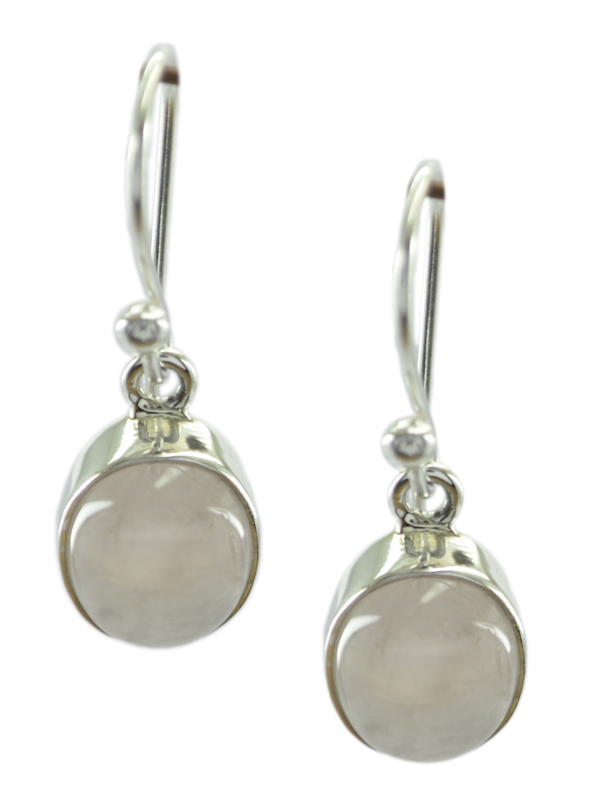 splendid Rose Quartz 925 Sterling Silver Pink Earring Natural normaly US