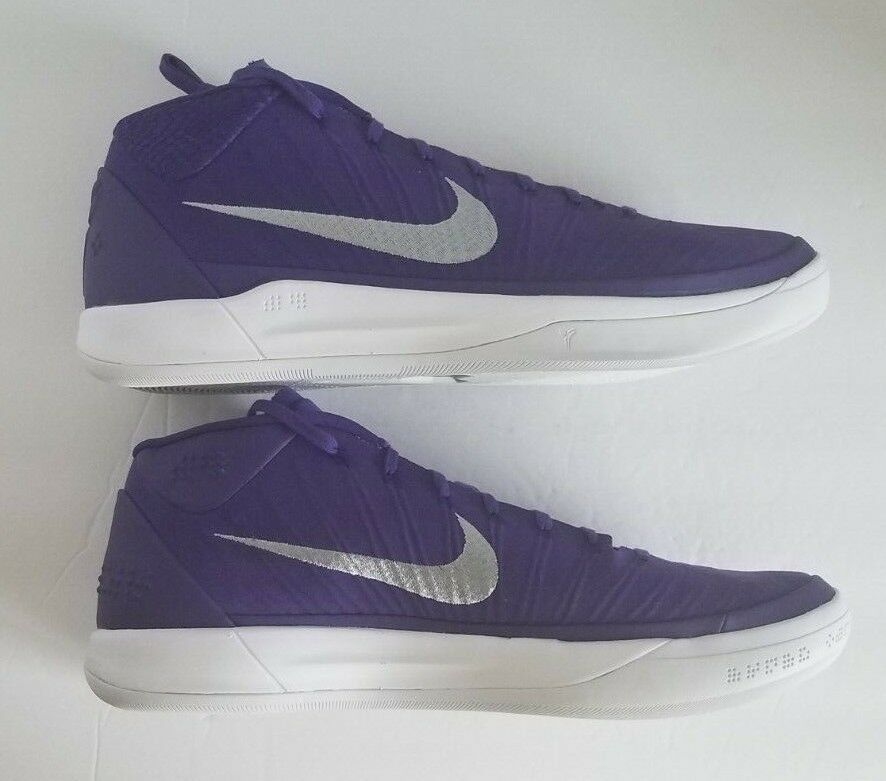 official photos a78ab 35a1d Nike Mens Kobe AD TB PROMO 942521-502 Lakers Purple Basketball Shoes