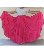 Womens Full Super Wide Skirt One Size Waist For Folkloric Dances New Han... - $49.50+