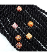 DIY Wooden Beads Ball Braiding Dreadlock Ring Hairstyle Extension Kids S... - $3.99
