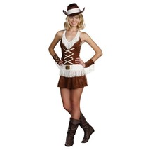 Cowgirl Costume Teen Junior Rodeo Hat Sexy Dress Dreamgirl Cowboy S L - $21.95