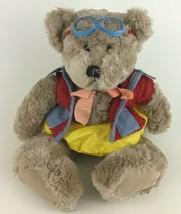 "Harvest Moon Pool Teddy Bear 16"" Plush Stuffed Animal Toy Denim Outfit Goggles - $23.12"