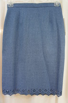 "Alfred Dunner Petite Skirt Sz 8P Sapphire Blue ""Windsor Castle"" Business... - $24.18"