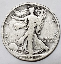 1921 Walking Liberty Half Dollar 90% Silver Coin Lot# E 74