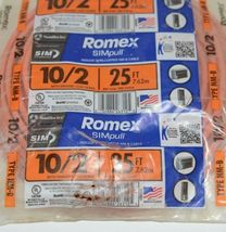 Romex 28829021 Ten 2 With Ground 25 Feet 600 Volts Indoor Wire NMB Cable image 3