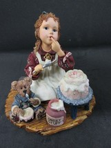BOYDS DOLLSTONE Collection #3560 Sarah Anne w/Duncan...Icing On The Cake Yesterd - $9.95