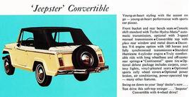 1967 Jeep Jeepster Convertible - Promotional Advertising Poster - $9.99+