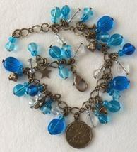 Zodiac Aquarius Beaded Charm Bracelet - $24.00