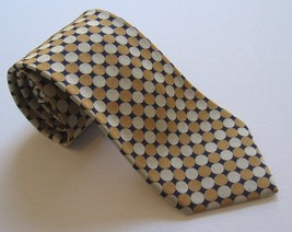 Brooks Brothers Makers Tie 100% Silk Gold Black & Tan Woven In England Men's - $24.18
