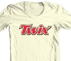 Twix T-shirt candy bar retro 70s 80s vintage brands 100% cotton beige  tee image 1