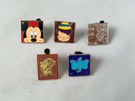 Disney Trading Pins Official Hidden Mickey Theme Lot of 5 Collectible - $17.43