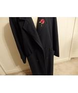 Women Coat 14 16 18 Jacket XL 1X Button Wool Shawl Collar Solid Long Tre... - $54.46