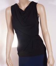 Michael Kors Womens Black Red Sleeveless Scoop Ruffled Tank Top Blouse Shirt - $27.99