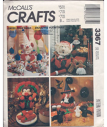M874 / 3367 Christmas Thanksgiving Halloween Table Decor Pattern - $8.95