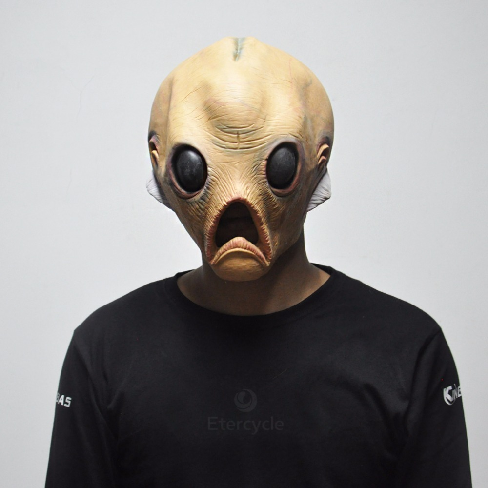 Scary Alien Latex Masks Halloween ET Cosplay Props Party Extra Terrestrial Mask for sale  USA