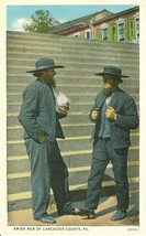 Amish Men of Lancaster County, Pa, unused 1910-1920s Postcard  - $4.99