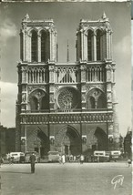 France, Paris, Cathedrale Notre Dame, 1930s unused Real Photo Postcard  - $4.55