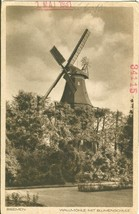 Germany, Bremen, Wallmuhle mit Blumenschule 1931 marked unused Postcard  - $4.99