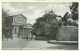 Germany, Darmstadt. Denkmal des Leibgarde-Regiments 115 u Theater Real P... - $8.25