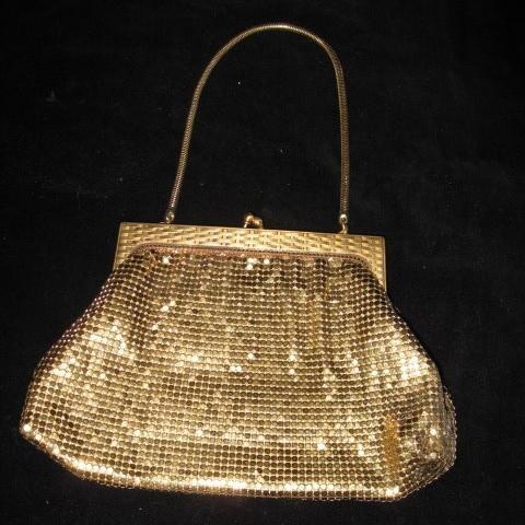 Vintage Whiting & Davis Gold Mesh Evening Bag Bonanza