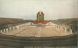 Interior, Mormon Tabernacle, Salt Lake City, Utah early 1900s unused Postcard  - $4.99