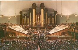 Interior of Mormon Tabernacle, Temple Square, Salt Lake City, Utah postcard - $4.50