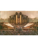 Interior of Mormon Tabernacle, Temple Square, Salt Lake City, Utah postcard - $4.50