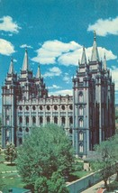 The Mormon Temple, Salt Lake City, Utah  1957 used Postcard  - $3.99