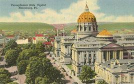 Pennsylvania State Capitol, Harrisburg, Pa unused linen Postcard  - $4.35