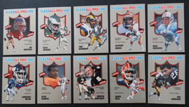 1990 Fleer All-Pro Insert Partial Set of 10 Football Cards Missing 15 Cards - $3.00