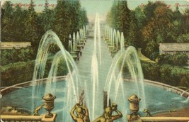Russia, Fountain at Peter, St. Petersburg, Russia early 1900s unused Postcard  - $5.99