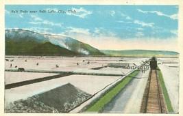 Salt Beds near Salt Lake City, Utah 1910s-1920s unused Postcard  - $4.35