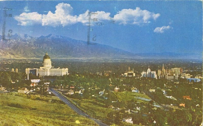 Salt Lake City, Utah 1952 used chrome Postcard