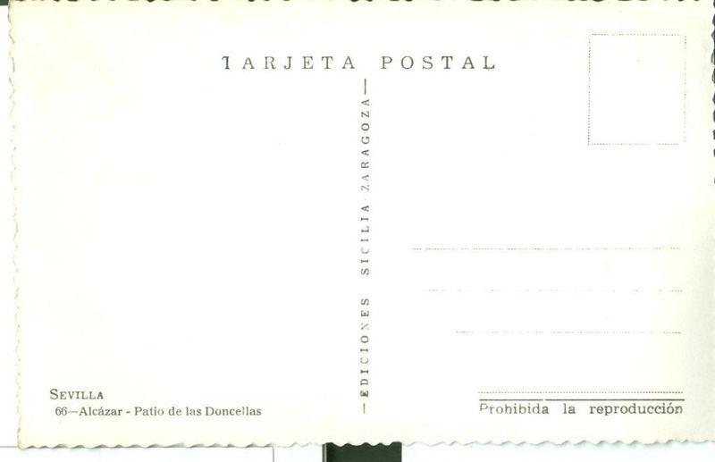 Spain, Sevilla, Alcazar Patio de las Doncellas unused Postcard